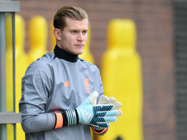 Liverpool's German goalkeeper Loris Karius arrives to attend a team training session at the club's Melwood training complex. AFP