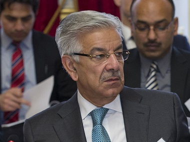 File image of Khawaja Asif. AFP