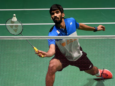 Kidambi Srikanth in action against Hu Yun of Hong Kong at the Japan Open Superseries. AFP