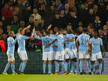 Manchester City have a chance to go to the top of the table if they win against Watford on Saturday. AP