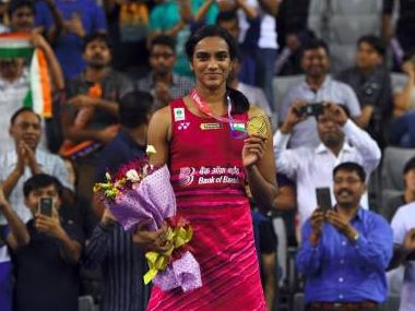 Image result for Olympic silver medallist shuttler P V Sindhu beat world champion Nozomi Okuhara in a thrilling final to clinch the women's singles title at the Korea Open Super Series today.