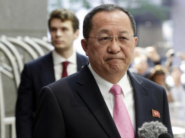 File image of North Korea foreign minister Ri Yong-ho. AP