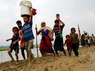 File image of Rohingyas fleeing Myanmar. Reuters