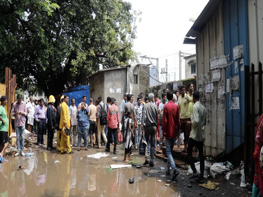 Crowds outside the Elphinstone Road railway station. Jay Mehta/Firstpost