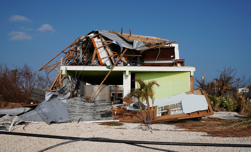 A house destroyed by Hurricane Irma. Reuters