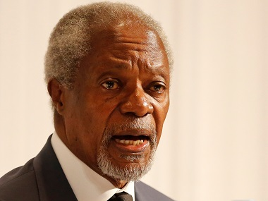 File image of Kofi Annan. Reuters