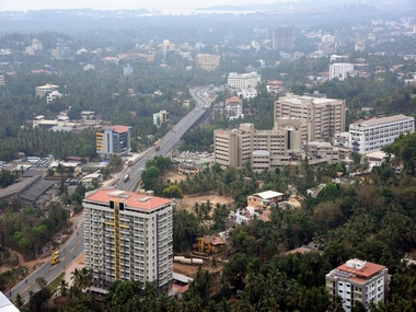 An aerial view of Mangaluru. Image courtesy: Rajesh Shetty /101 reporters.