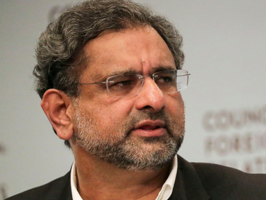 Pakistani Prime Minister Shahid Khaqan Abbasi answers a question during the panel discussion with the Council on Foreign Relations on Wednesday. Reuters
