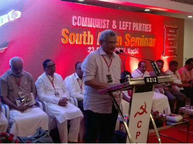 Sitaram Yechury at a recent event at Kochi. Fcaebook/Sitaram Yechury