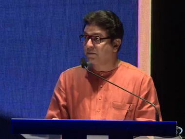 MNS chief Raj Thackeray at the launch of his Facebook Page in Mumbai.