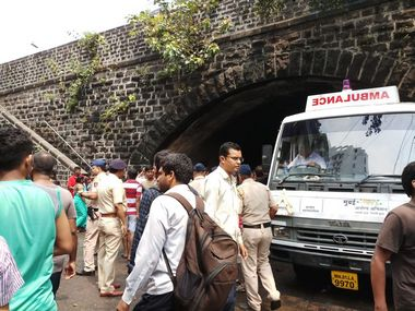 Police officials at Elphinstone Road station. Aprameya Rao/Firstpost