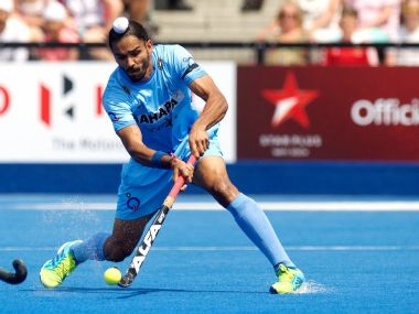 Akashdeep Singh scored India's second goal in the first quarter against Bangladesh. Twitter @TheHockeyIndia