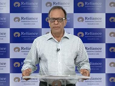 Reliance Industries chief financial officer, Alok Agarwal.