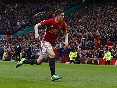 File image of Manchester United's Ander Herrera. Reuters