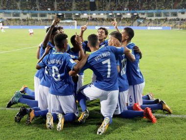 Brazil celebrate during their game against Niger. Getty