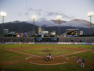 A local baseball fixture in progress in Caracas. Reuters