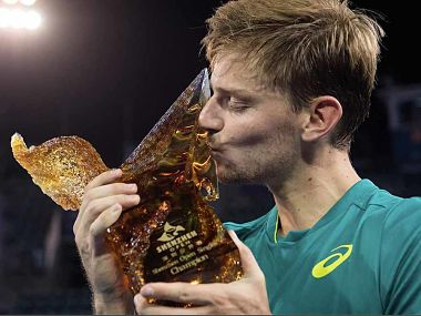 David Goffin had lost six finals on the trot and he had won his last ATP title in 2014. Image courtesy: Twitter @ATPWorldTour