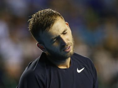 Tennis Britain - Great Britain v Argentina - Davis Cup Semi Final - Emirates Arena, Glasgow, Scotland - 18/9/16 Great Britain's Dan Evans looks dejected during his match against Argentina's Leonardo Mayer  Action Images via Reuters / Andrew Boyers Livepic EDITORIAL USE ONLY. - 14616069