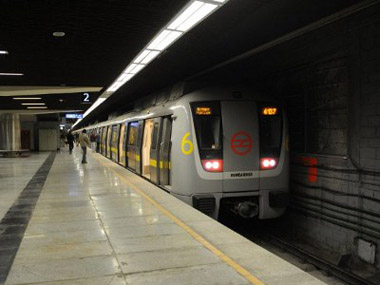 File photo of Delhi metro. AFP