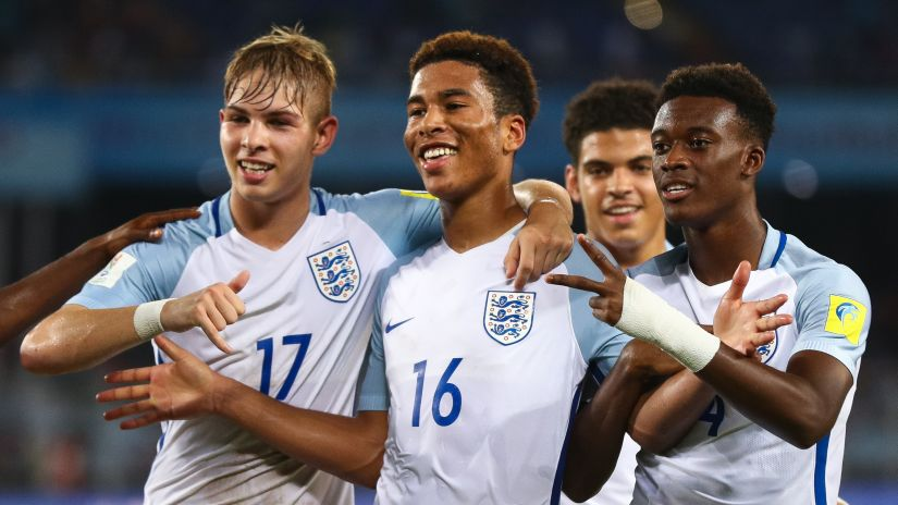 Brewster's hat-trick secured semifinal spot for England