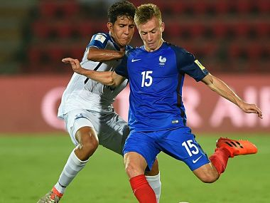 France and Honduras players in action during their FIFA U-17 World Cup match. Twitter @FIFAcom