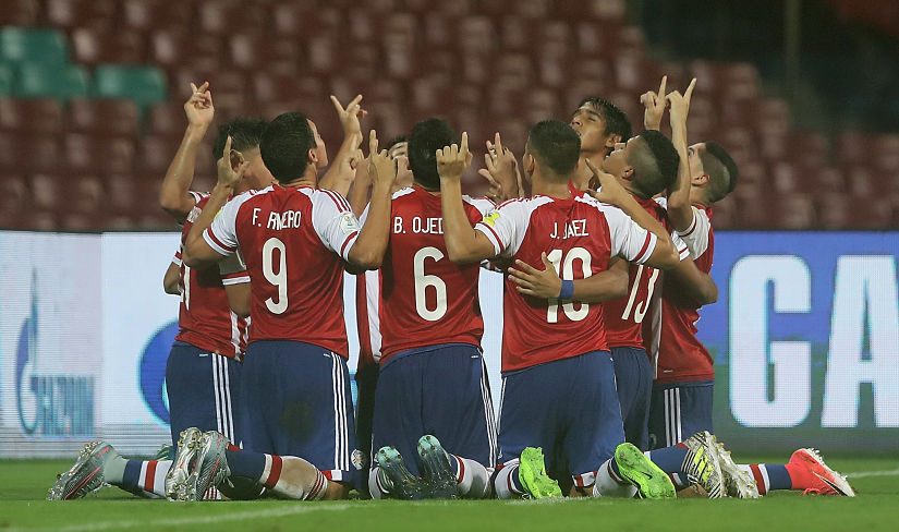 Paraguay came from behind to beat a resolute New Zealand side 4-2 in Navi Mumbai. GettyImages