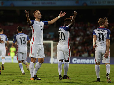 USA's Josh Sargent of the celebrates along with teammates. Getty Images