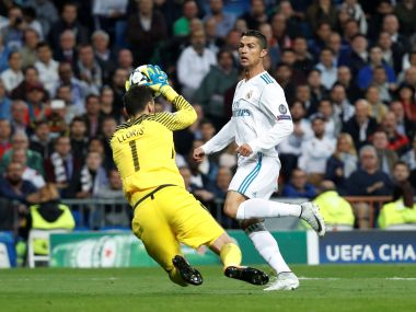 Tottenham's Hugo Lloris makes a save in the match against Real Madrid. Reuters