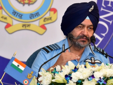 File image of Air Chief Marshal BS Dhanoa. PTI