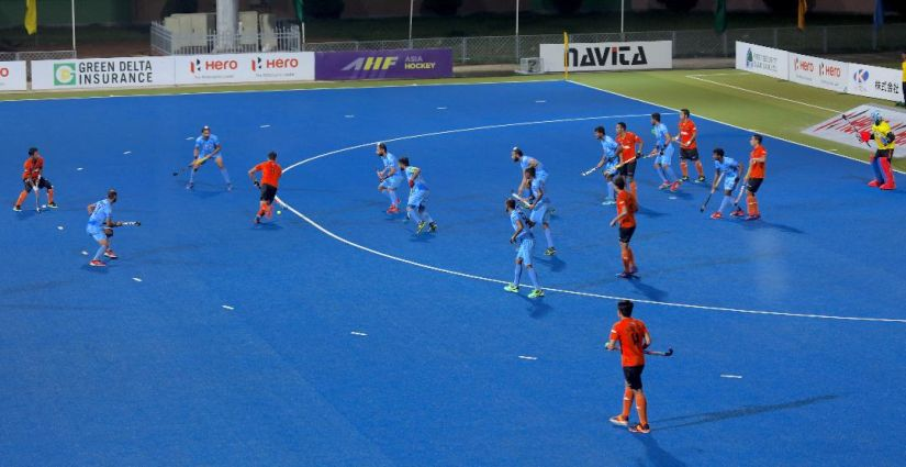 Not only were India brilliant in attack their players also defended in numbers. Image courtesy Neeraj Tiwari