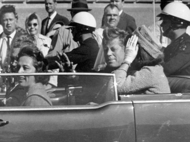 File image of President John F Kennedy on the day of his assassination. AP