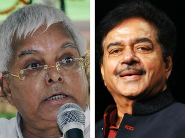 File image of Lalu Prasad Yadav and Shatrughan Sinha. AFP/PTI