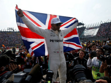 Lewis Hamilton finished ninth in the race, clinching the Drivers' Championship. Reuters