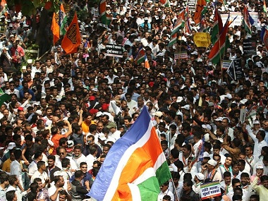 Thousands attended the MNS rally at Churchgate on Thursday. Firstpost/Sachin Gokhale