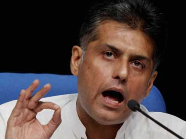 File image of Manish Tewari. PTI