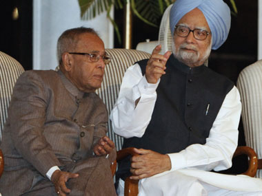 File image of former prime minister of India Manmohan Singh and former president Pranab Mukerjee. Reuters
