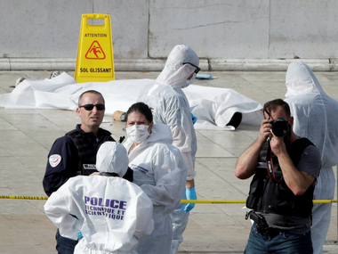 One of the bodies lying in Marseille. AP