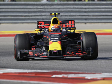Max Verstappen steers through a turn during the US Grand Prix. AP