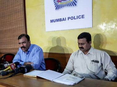 DCP Dilip Sawant addresses a press meet, after DK Rao's arrest, on Thursday. Firstpost/ Sanjay Sawant