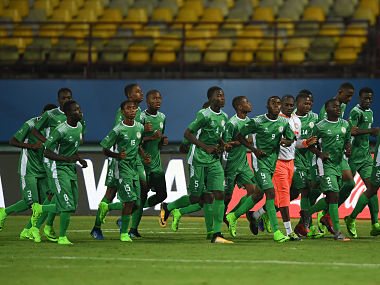 Niger players warm up during atraining session. Getty Images