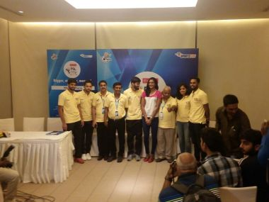 The top Indian badminton players at the PBL auction. Twitter @PBLIndiaLive