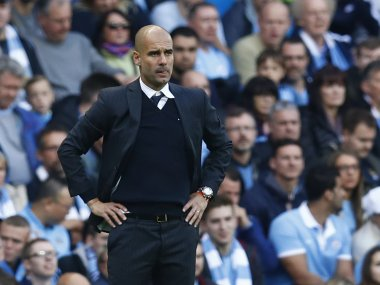 File image of Manchester City manager Pep Guardiola. Reuters