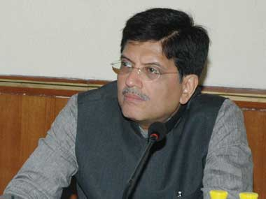 File image of Railway minister Piyush Goyal. PIB