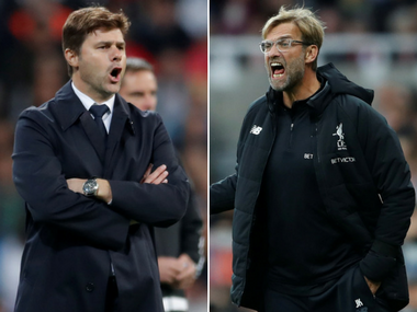 Mauricio Pochettino will hope to get one over Jurgen Klopp when Spurs face Liverpool. Reuters