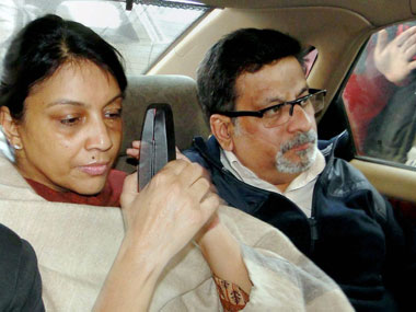 File photo of dentist-couple Nupur Talwar and Rajesh Talwar, who were on Thursday acquitted by the Allahabad High Court in the twin murder case of their daughter Aarushi and domestic help Hemraj. PTI