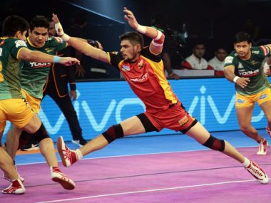 Rohit Sharma was in scintillating form on Tuesday against UP Yoddha. Twitter @BengaluruBulls