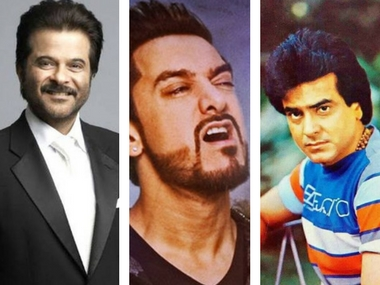 Anil Kapoor (left); Aamir Khan in Secret Superstar (centre); and Jeetendra. Image courtesy: Facebook