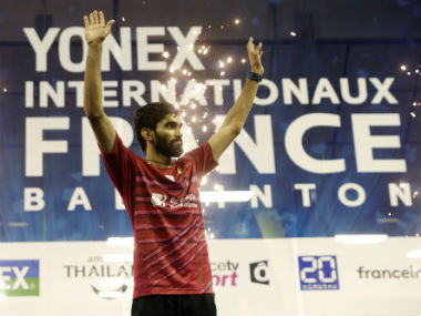 Kidambi Srikanth became only fourth men's singles player to win four or more Superseries titles in a calendar year. AP