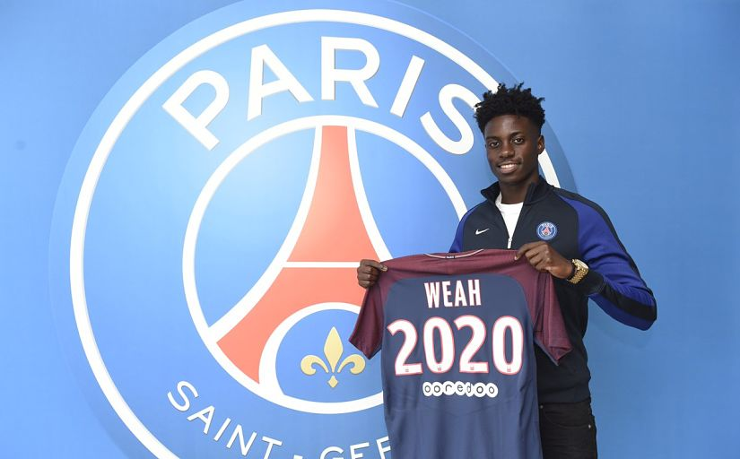 Tim Weah signed a professional contract with PSG until 2020 in July. Twitter/@PSG_Inside