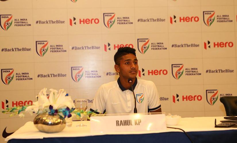 File picture of Rahul KP. AIFF Twitter